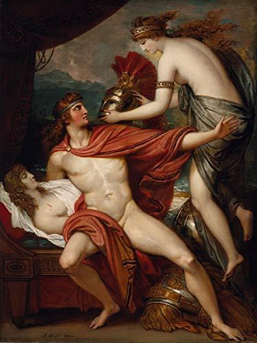 Benjamin West Giclee Papel de Arte impresión Obras de Arte Pinturas Reproducción de Carteles(Thetis llevando la Armadura a Aquiles)