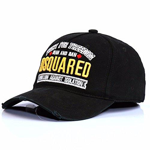 Heixioxun@Baseball Cap/Baseballkappe/Trucker Cap/Trucker Hat/Golf Sport Outdoor Kappe Mütze Cap Freizeit - Gap Baumwolle Tide Outdoor, schwarz, verstellbar