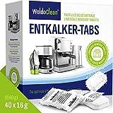 Descalcificador Cafetera Pastillas de descalcificación - 40 x 16g Tabletas para máquina de café,...