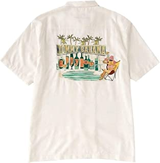Tommy Bahama Embroidered Swizzle Sizzle Silk Camp Shirt
