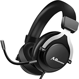 PC Gaming Headset 3.5mm Audio Stereo Sound PS4 Gaming Headphone for Mac Latop Nintendo Switch Games,50mm Driver Noise-Isol...