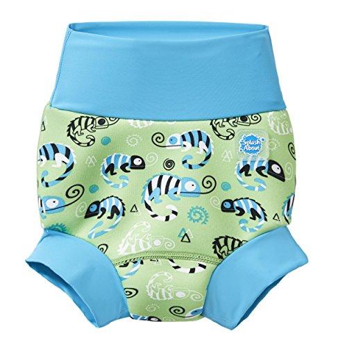 Splash About Unisex-Baby Neue Und Verbesserte Happy Nappy Windel Schwimmen, Green Gecko, 12-24 Monate