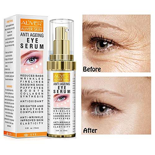 A'LIVER Hyaluronic Acid Eye Essence Cream,Collagen Anti-Aging Seru,Best Eye Gel,for Women Eye Wrinkles, Fine Lines, Dark Circles, Puffiness, Bags .(15ml)