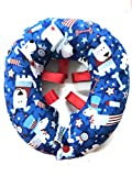 Puppy Bumpers Patriotic Puppy - Made in USA 100% Cotton Stuffed Safety Fence Collar to Keep Your pet Safely on The Right Side of The Fence. (10-13')