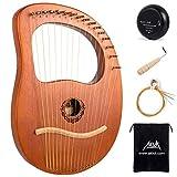 AKLOT 16 cuerdas de metal Arpa de lira Arpa de lejía de caoba con llave de afinación Recoger...