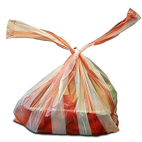 2.000x Hemdchentragetaschen 25+12x45, rot/weiss gestreift geblockt 20x100 Stück   Hemdchen   Einkaufsbeutel in 25+12x45 cm   Plastiktüten   HUTNER