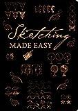Piccadilly Sketching Made Easy | Cuaderno de dibujo guiado | Cuaderno plano | Papel sin ácido y sin madera | 200 páginas, modelo: 9781608634552