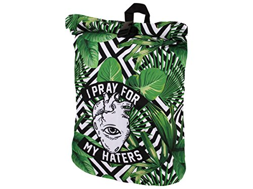 Alsino Ruck-c007 I Pray for My Haters Sac à dos rétro vintage