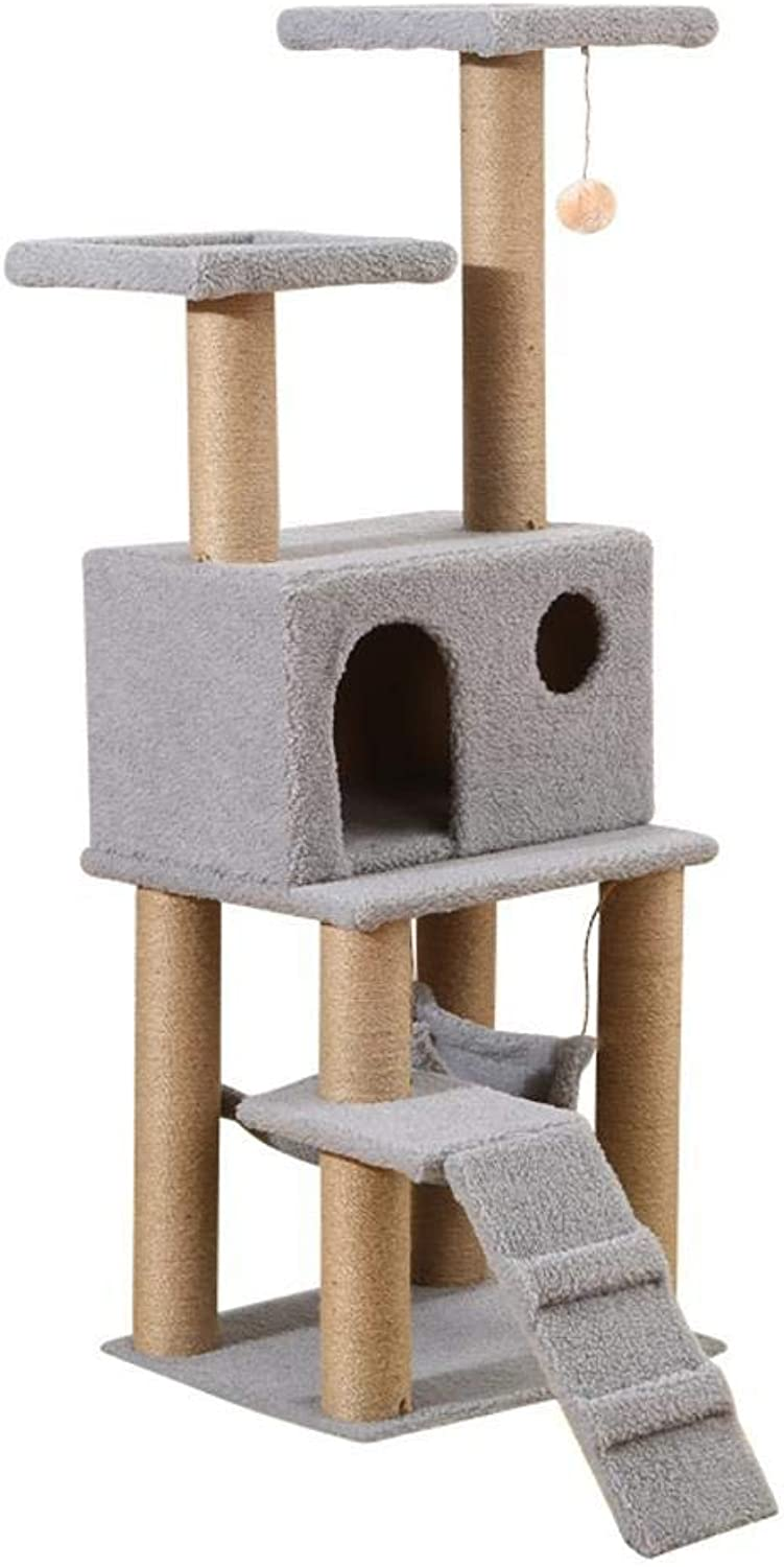 Aoligei Cat Play Towers & Trees Station Cat Scratch Board Cat Toy Cat Litter Pet Supplies 50  32  30cm