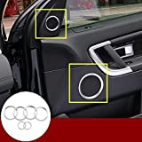 Nogo Car Interior car Door Speakers Cover Ring Fit for Land Rover Discovery Sport to 2015-2019 Car Decoration