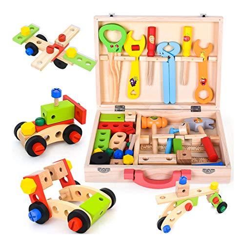 longrep Werkzeugkasten Aus Holz Simulationsreparatur-Werkzeugkasten-Spielzeugset, Kinderspielzeug,...