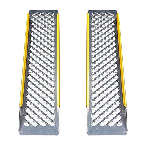 ZXCVB RampasRampa de Aluminio Antideslizante de rampa para sillas de Ruedas, Tablero de rampa de Entrada sin barreras, Adecuado para vehículos de Motor y sillas de Ruedas Two