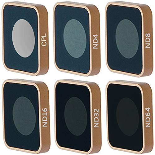 QKOO ND CPL Filter Kit for GoPro Hero 7 Black/Hero (2018)/Hero 6 Black/Hero 5 Black - CPL, ND4, ND8, ND16, ND32, ND64 Lens Filter (6-Pack) - Neutral Density & Circular Polarizer Lens Filters Set