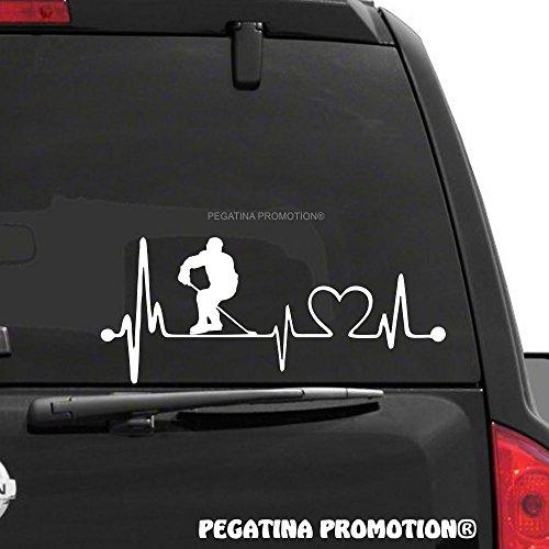 Eishockey Eishockeyspieler Typ1 Herzschlag Aufkleber 30 cm Herzlinie Hobby Sticker Auto Lack Scheibe Autoaufkleber von Pegatina Promotion ®