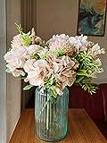 Ramo de flores artificiales de peonía de seda, ramo de boda, fiesta, decoración del hogar, 7 tenedores (rosa)