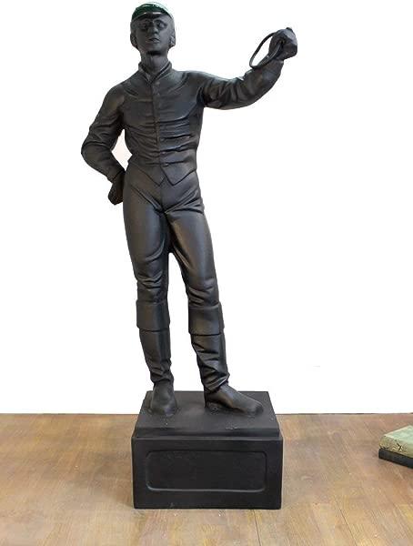 国王湾老草坪骑师雕像马术爱好者雕塑复古定制油漆