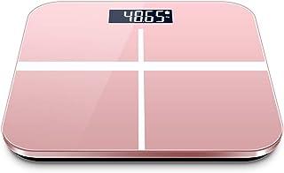 Mhwlai Báscula electrónica Inteligente, báscula de Cristal líquido LCD/báscula de Salud/báscula de precisión-KG/LB una tecla para Cambiar de Pantalla (26 * 26 cm),Rosado