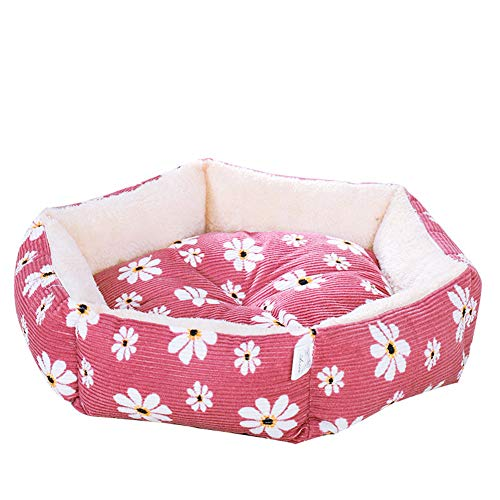 GBY hondenbed, hondensofa, pluche en verdikte warme hondenhut in de winter, hondenhut, hondenhut, vierseizoenen universeel hondenhut en hondenmat, geschikt voor kleine en middelgrote honden