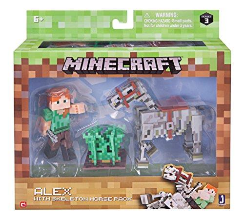 Minecraft Alex with Skeleton Horse Pack