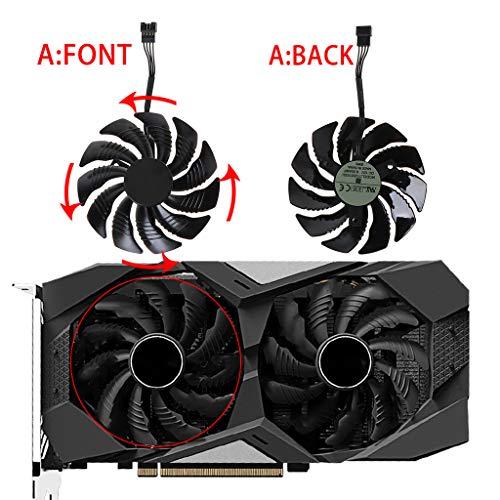 KJ-KUIJHFF T129215SU Ersatz-Kühler für Gigabyte Geforce GTX 1050 1050TI 1060 1070 1070TI G1 Radeon RX 570 580 470 Gaming MI Zubehör a