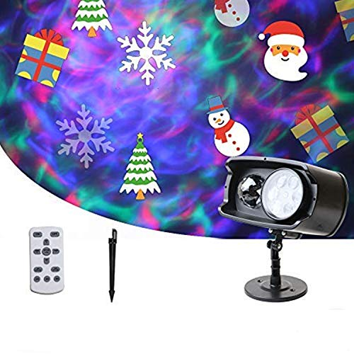 LED Projector Light, Christmas Projector Lamp, 2-in-1 Water Wave & Moving...