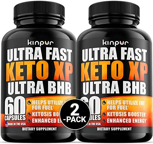 2 Pack Ultra Fast Keto Xp Diet Pills with Acv Helps Utilize Fat for Fuel Enhance Energy Pure product image