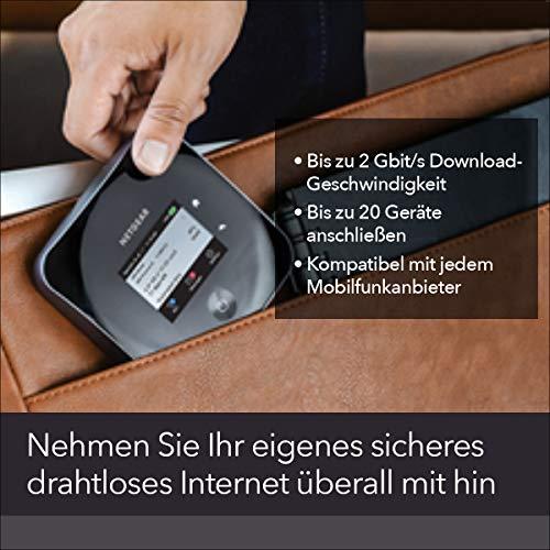 Netgear Nighthawk M2 Mobiler WLAN Router / 4G LTE Router MR2100 (bis zu 2 GBit/s Download-Geschwindigkeit, Hotspot für bis zu 20 Geräte, WiFi überall einrichten, für jede SIM-Karte freigeschaltet)