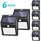 Solar Lights Outdoor [42 LED/3 Working Mode], SEZAC Solar Security Lights Solar Motion Sensor Lights Wireless IP 65 Waterproof Outdoor Lights for Garden Fence Patio Garage (6 Pack)