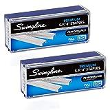 Swingline Staples, S.F. 4, Premium, 1/4' Length, 210/Strip, 5000/Box, 2 Pack (35450AZ) - S7035450AZ ,Silver , 2 Boxes