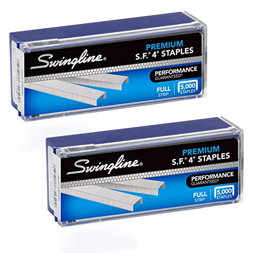 "Swingline Staples, S.F. 4, Premium, 1/4"" Length, 210/Strip, 5000/Box, 2 Pack (35450AZ) - S7035450AZ ,Silver , 2 Boxes"