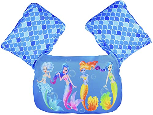 Chaleco de natación para niños con alas de brazo adecuado para niños de 10 a 26 kg (sirena)