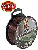 WFT Zielfisch Aal 300m 0,35mm 10,3kg braun - Angelschnur für Aale, Schnur zum Aalangeln, Aalschnur,...