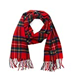 INVERNO Super Soft Luxurious Cashmere Feel Warm Winter Pattern Design Unisex Scarf (Royal Stewart Tartan)