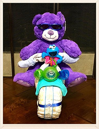 Premium Bicycle Diaper Cake (Boy Size 1)