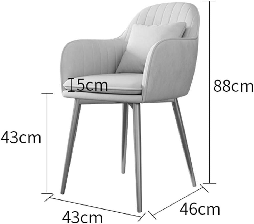 XXT Chaise de salle, Chaise de bureau simple, créative Dossier, Chaise Loisirs, Maison adulte Chaise de salle Durable (Color : Green) Navy Blue