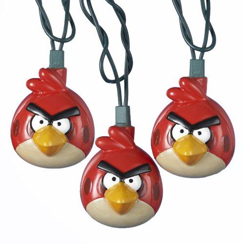 Kurt Adler UL - Juego de 10 luces de inyección de moldes de Angry Birds