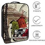 Nanmma Waterproof Shoe Bags Puches Storage Organizer-Double Layer,Vintage French Eiffel Tower Sedan Ferris Wheel Style