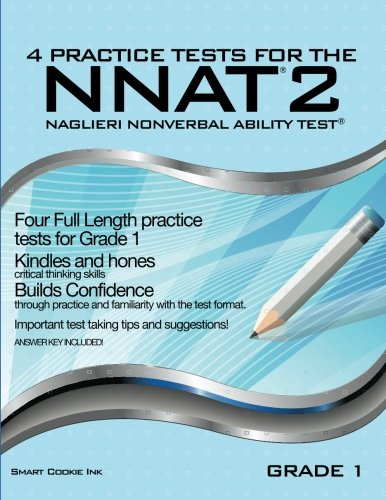 4 Practice Tests For The Nnat2 Grade 1 Level B Four Full Length Practice Tests For Grade 1