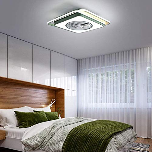 ZHANGL Moderno Ventilador de Techo Ultra Delgado Control de Techo Control Remoto Dimmable LED Araña Ajustable Fan Mute Room Habitación Sala de Estar Oficina Habitación para niños Luz de Techo