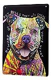 Blechschild Metallschilder Wandschild Blech Poster Hunde