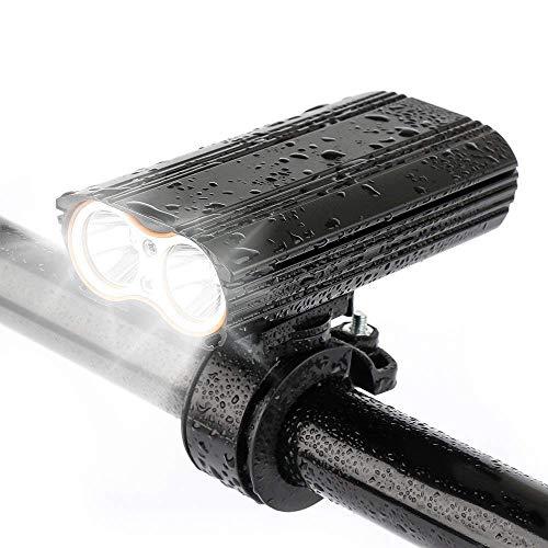 Wzmdd Led-fietsverlichting, USB-oplaadbaar, 2000 lumen, waterdicht, helder fietslamp, 4 verlichtingsmodi, USB