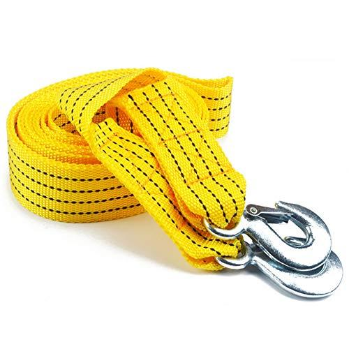 GZQ Cuerda de Remolque,Accesorio Coche Remolque Correa de Cuerda con Ganchos de Emergencia (4M, 5 Toneladas)