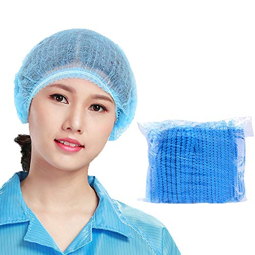 VICSPORT Lot de 100 bonnets de douche jetables en plastique transparent pour traitement des cheveux - Pour un usage domestique, hôtel et salon de coiffure