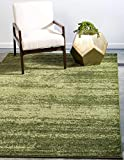 Unique Loom Del Mar Collection Area Rug- Modern Transitional Inspired Tonal Design (5' 0 x 8' 0 Rectangular, Green/ Olive)