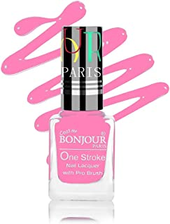 Coat Me Bonjour Paris Satin Matte Finish Lasting Nail Polish with Quick Dry Formulation (Baby Pink, 9 ml)