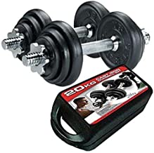 Emfil 20 KG BOX IRON DUMBBELL Weights with Iron Rod