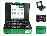 SPAX Box Systainer T-Loc I – Montagekoffer mit Schrauben in 12 Abmessungen zur Aufbewahrung und Transport– 5000009172009, grün