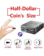 GXSLKWL Smallest Hidden Spy Camera, 1080P Mini Secret HD Conceal Nanny Video Recorder with Night Vision and Motion Detection, Compact Covert Security Camera (Color : No memory card)
