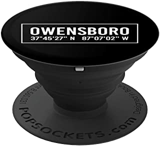 OWENSBORO KY KENTUCKY Funny City Coordinates Home Roots Gift PopSockets Grip and Stand for Phones and Tablets