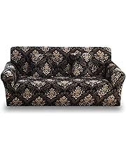 مجموعة أغطية الأرائك مصنوعة من الليكرا، 4 قطع، تتكون من 1 غطاء أريكة لثلاثة مقاعد، 1 غطاء أريكة لمقعدين و 2 غطاء كرسي